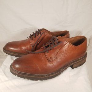 Frye Oxford Lace Up Brown Leather Sz 8